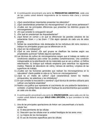 TALLER SOBRE CÉLULAS Y MICROORGANISMOS_132556