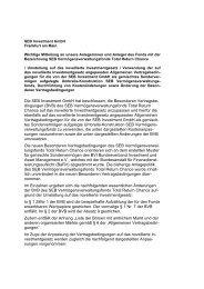 Bekanntmachung sowie Anpassung der Vertragsbedingungen (PDF)