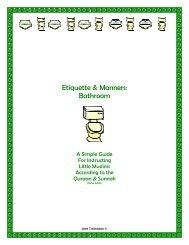 Simple Bathroom Etiquettes - Children's Book