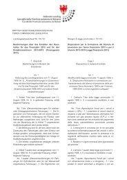 Disegno di legge provinciale n. 1 - Südtiroler Landtag