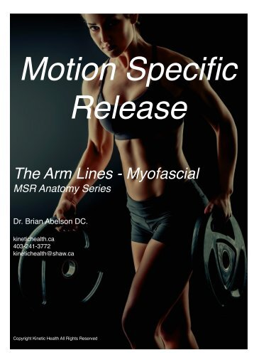 The Arm Lines - Myofascial