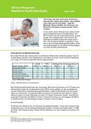 Newsletter Real Estate Equity - SEB  Asset Management
