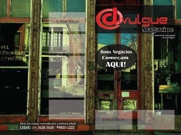 Divulgue Comunicação e Marketing - Divulgue Magazine - Revista 30x40 - 3 Lâminas - 12 Páginas com Capa