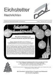 Dörflicher Adventskalender - Gemeinde Eichstetten