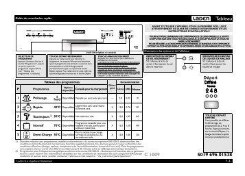 KitchenAid C 1009 IS - C 1009 IS FR (851000529340) Guide de consultation rapide