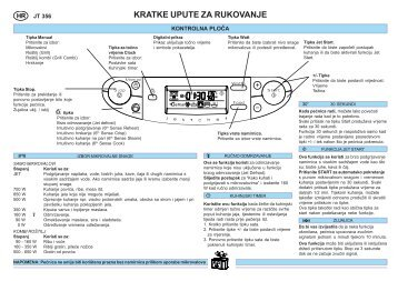 KitchenAid JT 356 BL - JT 356 BL HR (858735699490) Guide de consultation rapide