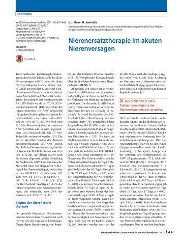 05 Nierenersatztherapie im akuten Nierenversagen
