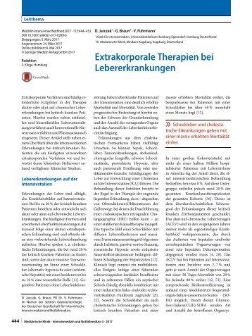 06 Extrakorporale Therapien bei Lebererkrankungen