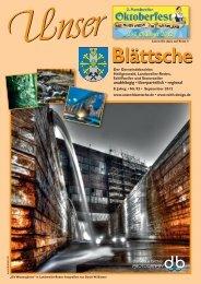 Unser Blättsche · Ausgabe 92 · September 2012 - VDesign Agentur ...