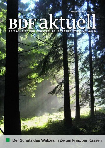 Der Schutz des Waldes in Zeiten knapper Kassen - Bund Deutscher ...