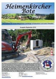Einladung zur Brunnenhockete 2012 - Heimenkirch