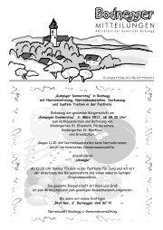 Mittwoch, 09.03.2011 14:00 Uhr Bodnegg Grundschule