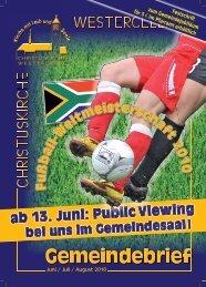 Ausgabe 2010: Juni - Kirchengemeinde Westercelle