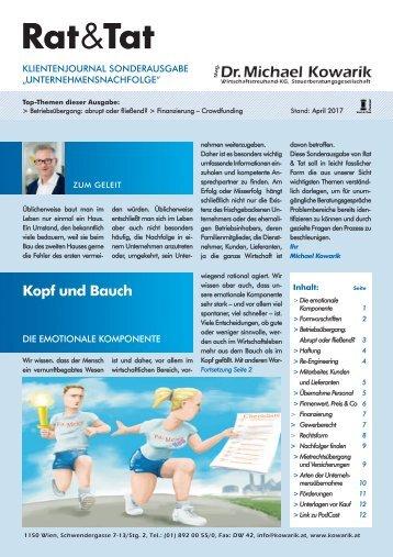 Rat & Tat - Klienten-Info / Sonderausgabe Unternehmensnachfolge