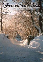 Feierabendpost Ausgabe Nr. 1 / 2006 - ev. Feierabendhaus Schwelm