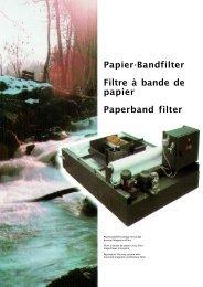 Papier-Bandfilter Filtre à bande de papier Paperband filter