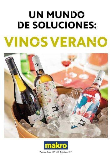 Catálogo Makro Ofertas vinos de verano hasta 30 de Junio 2017