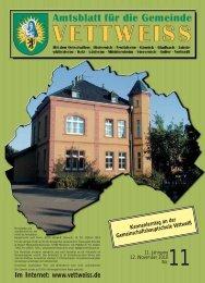 Im Internet: www.vettweiss.de - Gemeinde Vettweiss
