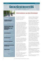 Informationen aus dem Grenzland - Grenzgeschichte DG