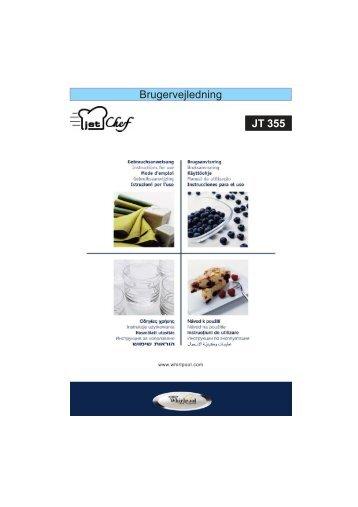 KitchenAid JT 355 BL - JT 355 BL DA (858735599490) Istruzioni per l'Uso