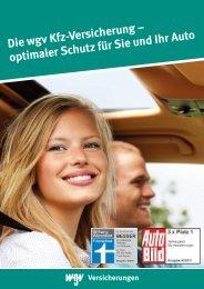 Mensch und Auto - wgv Versicherungen