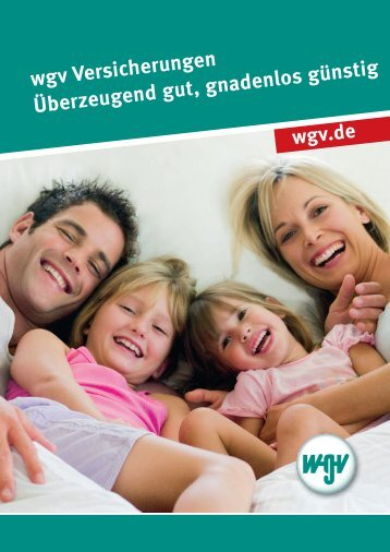 Informationen zur WGV-Versicherungsgruppe - wgv Versicherungen