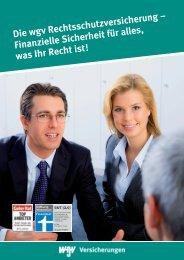 Die wgv Rechtsschutzversicherung - wgv Versicherungen