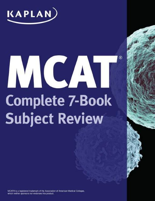 MCAT Complete 7-Book Subject Review (3rd Ed 2016)