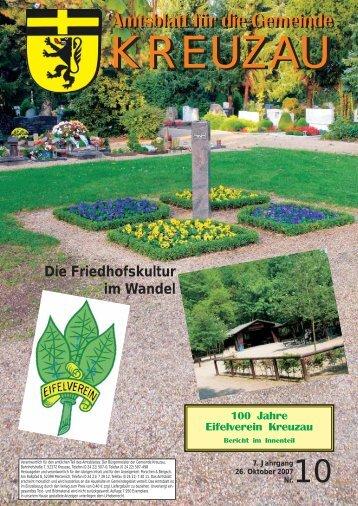 Amtsblatt Nr. 10/2007 vom 26.10.2007 - Gemeinde Kreuzau