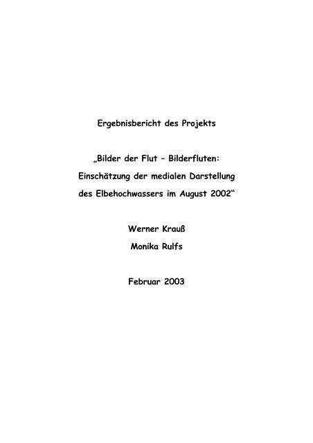 """Ergebnisbericht des Projekts """"Bilder der Flut – Bilderfluten ..."""