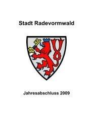 Ordentliche Erträge - Stadt Radevormwald