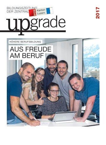 upgrade spezial: Höhere Berufsbildung im Kanton Luzern
