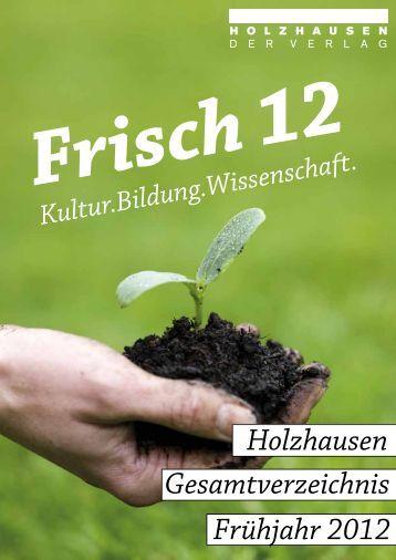 Buch Wissenschaft - Verlag Holzhausen