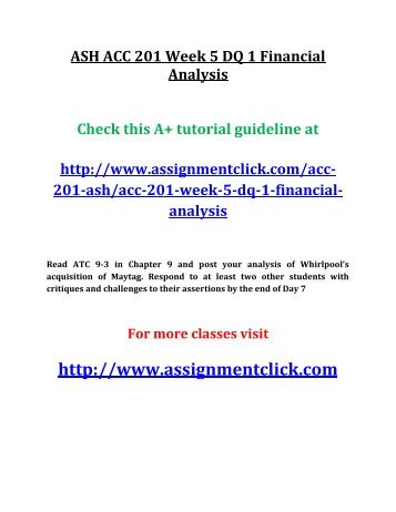 acc 422 week 1 disclosure analysis paper Acc_422_week_1_individual_assignment_disclosure_analysis_paperdoc (preview file here) this is a standard measure of any business success, which should also include notes explaining the contents of cash and cash equivalents to avoid nondisclosure of critical information.
