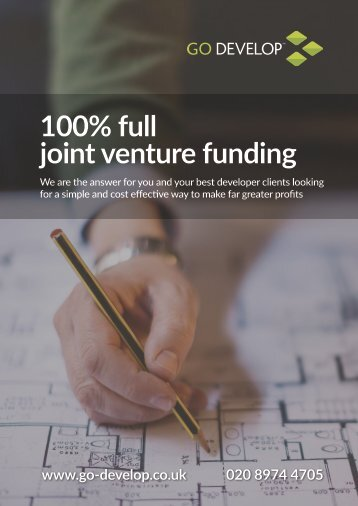 Go Develop Joint Venture Land & Build Funding for Brokers