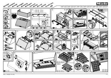 Miele DAR 1235 - Plan de montage