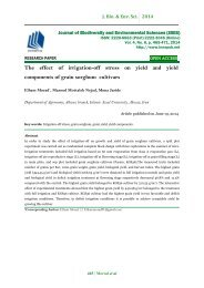 The effect of irrigation-off stress on yield and yield components of grain sorghum cultivars
