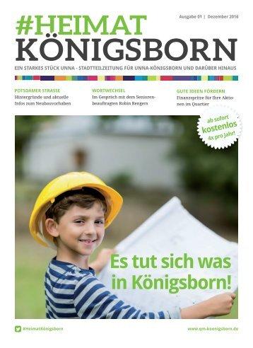 """#HeimatKönigsborn - 01/2016 \""""Es tut sich was in Königsborn!\"""""""