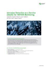 Intrusion Detection as a Servcie für WOTAN
