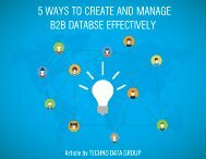 5 WAYS TO CREATE AND MANAGE B2B DATABASE EFFECTIVELY