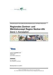 Regionales Zentren - beim Regionalverband Neckar-Alb