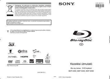 Sony BDP-S480 - BDP-S480 Mode d'emploi Hongrois