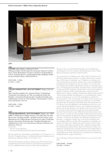 | 202 Möbel & Antiquitäten | Möbel, Uhren ... - Koller Auktionen