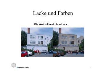 Lacke und Farben - Chemie und ihre Didaktik, Universität Wuppertal