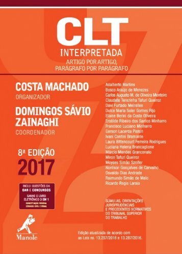 CLT Interpretada - Costa Machado e Domingos Sávio - 2017