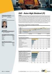 DJE - Asien High Dividend (P) - Schleswiger Versicherungsservice AG