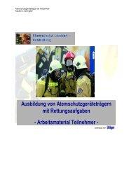 Arbeitsmaterial Teilnehmer - Atemschutz Lexikon