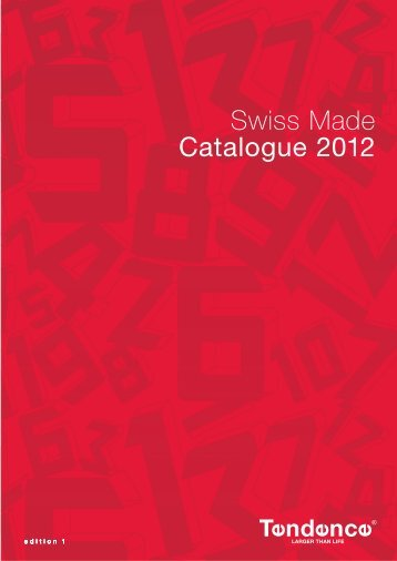Swiss Made Catalogue 2012 - Tendence