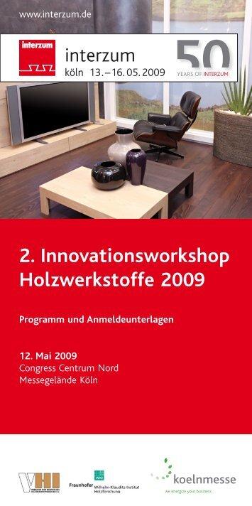 2. Innovationsworkshop Holzwerkstoffe 2009 - VHI