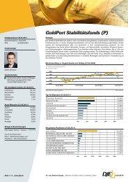 GoldPort Stabilitätsfonds (P) - Schleswiger Versicherungsservice AG